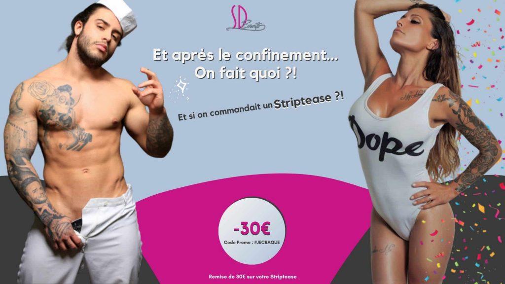 Striptease à Domicile - Commandez une stripteaseuse ou un Stripteaseur à Domicile à Paris et en Île-de-France pas cher.