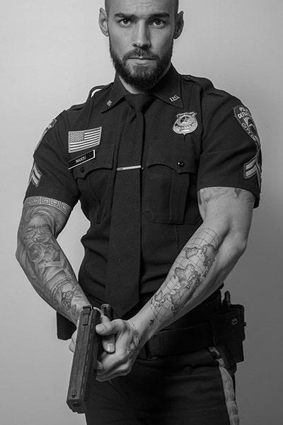 Stripteaseur avec limousine 75 policier US (Max) pas cher.