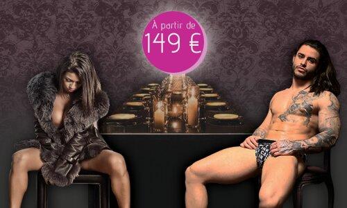 Striptease en Restaurant ( Stripteaseuse et Stripteaseur) pas cher.